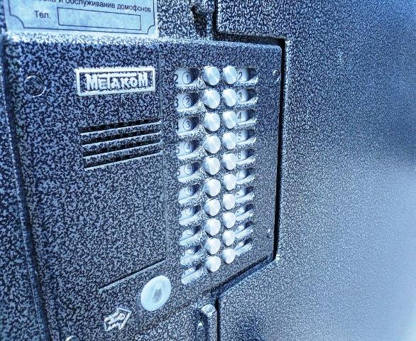 Дверь металлическая для установки домофона